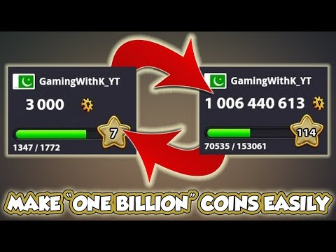 3000 Coins to 1Billion Coins in 8 Ball Pool - Miniclip - Epic Gameplay
