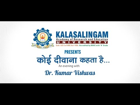 Dr Kumar Vishwas in KOTA | 11 April 2016 | KALASALINGAM UNIVERSITY | RD Events