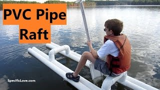 PVC PIPE Raft - Fun at the Lake