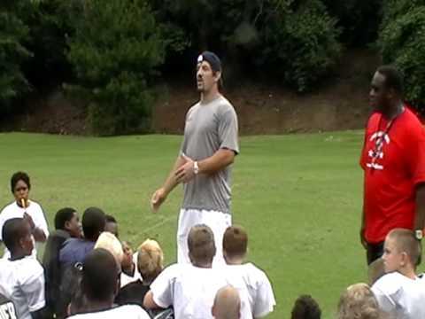 Keith Brooking at Atlanta O-D Camp