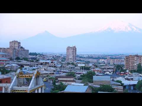 Восход солнца в г. Ереван — Армения   ( Рассвет над Араратом )