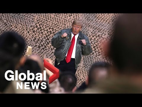 President Trump makes surprise visit to Iraq, thanks troops for their service Mp3