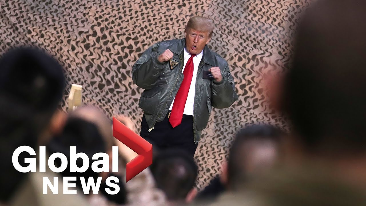 President Trump makes surprise visit to Iraq, thanks troops for their service