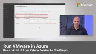 How to run VMware in Azure - Demo Tutorial