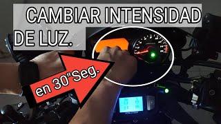 CAMBIAR INTENSIDAD LUZ DEL CUADRO EN YAMAHA FZ6