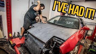 My $1000 Toyota MR2 Turbo FINALLY Looks Like A Car Again (And I Get ANGRY) - MR2 Build Pt 6
