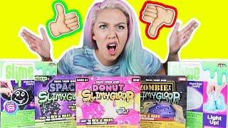 TESTING DOLLAR STORE SLIME KITS! ( Star Slime, Chalk Board Slime, Donut Slime, Light-up Slime )