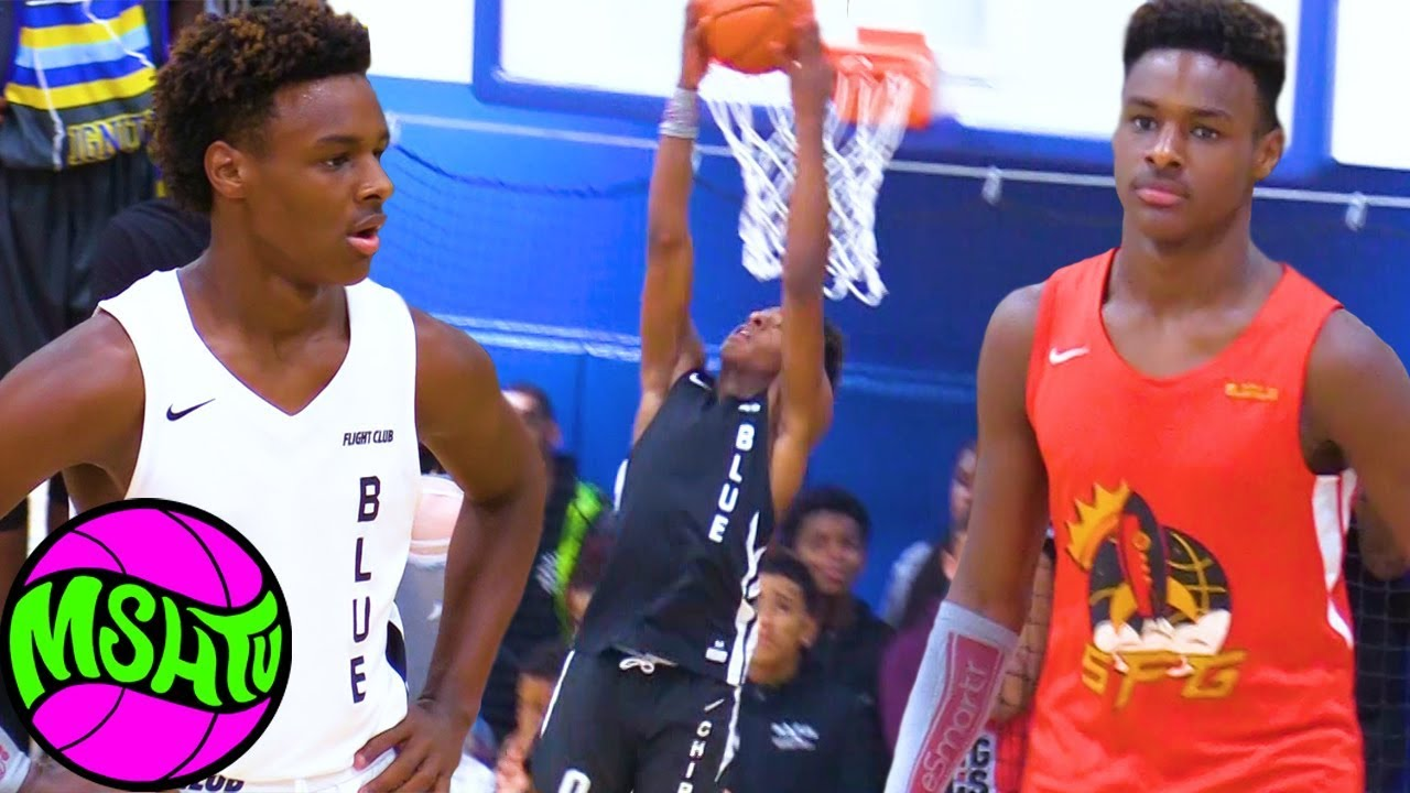 finest selection 292b5 5a127 Bronny James DUNKS ALL OVER MIAMI at 2019 Balling on the Beach