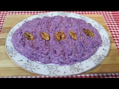 Yoğurtlu Mor Lahana Salatası Nasıl Yapılır? |  Mor Lahana Mezesi