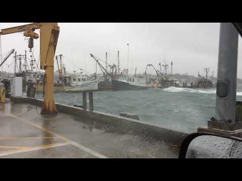 Provincetown Harbor blasted by storm