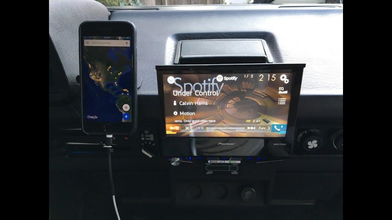 Pioneer AVH-X7800BT radio installed in a Volkswagen Vanagon Syncro on