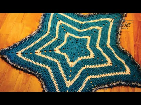 How To Crochet A Baby Blanket Star Blanket Youtube