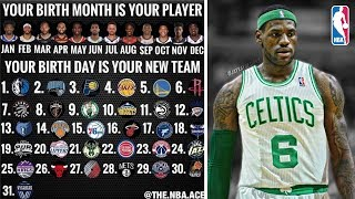 YOUR BIRTH MONTH IS YOUR PLAYER! YOUR BIRTH DAY IS YOUR NBA TEAM!