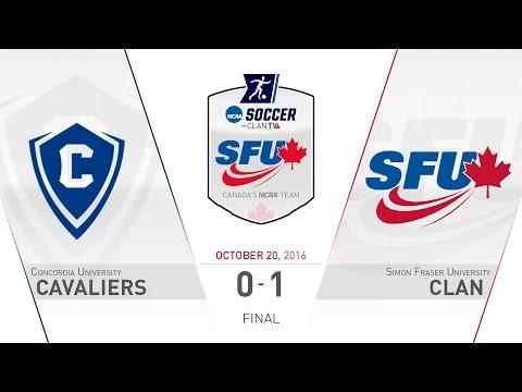 SFU Clan Women's Soccer: SFU vs. CU - October 20, 2016
