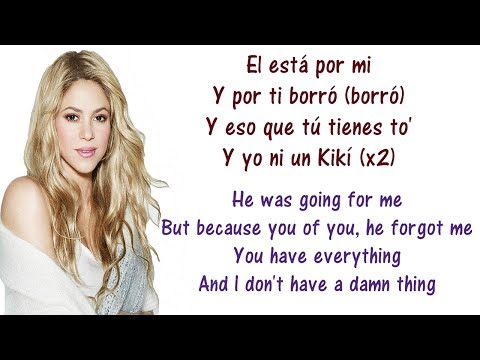 Shakira - Loca Spanish Version ft  El Cata Lyrics English and Spanish - Translation & Meaning