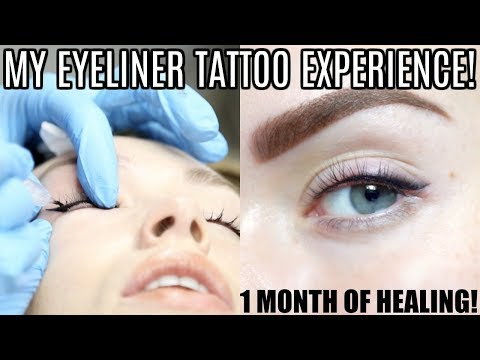 MY PERMANENT EYELINER TATTOO EXPERIENCE! | Fully Healed