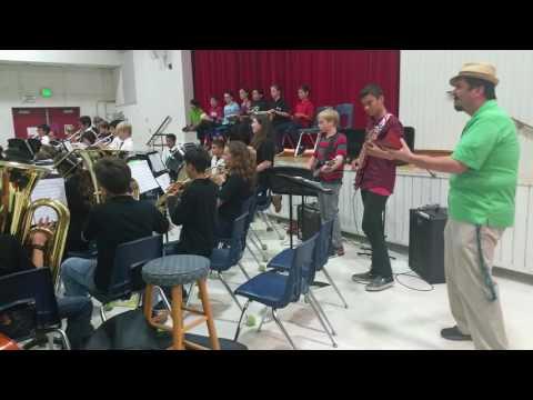 El Segundo Middle School Bands In Concert - Grand Finale Feature Soloist - Mr. Luna