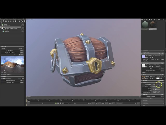05 Stylised Texturing in Substance Painter: Lighting and Export