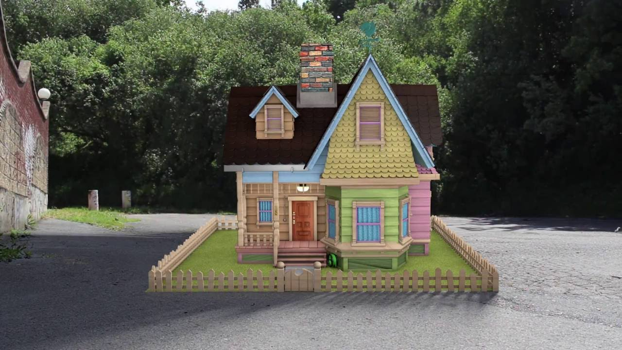 Up house 3d youtube - Maqueta casa up ...