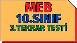10.Sınıf Kimya 3.Tekrar Testleri (Karışımlar) MEB  TYT 2020