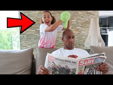 STICKY SLIME PRANK ON MY DAD!!