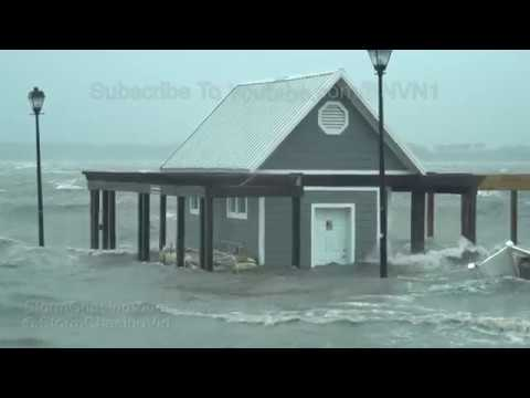 Hurricane Florence, Extreme Flooding, Damage, Wall Cloud - 9/14/2018