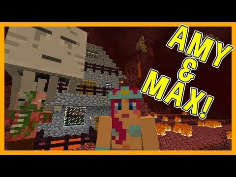 THE NETHER REGIONS!   Amy & Max! Ep.57   Minecraft