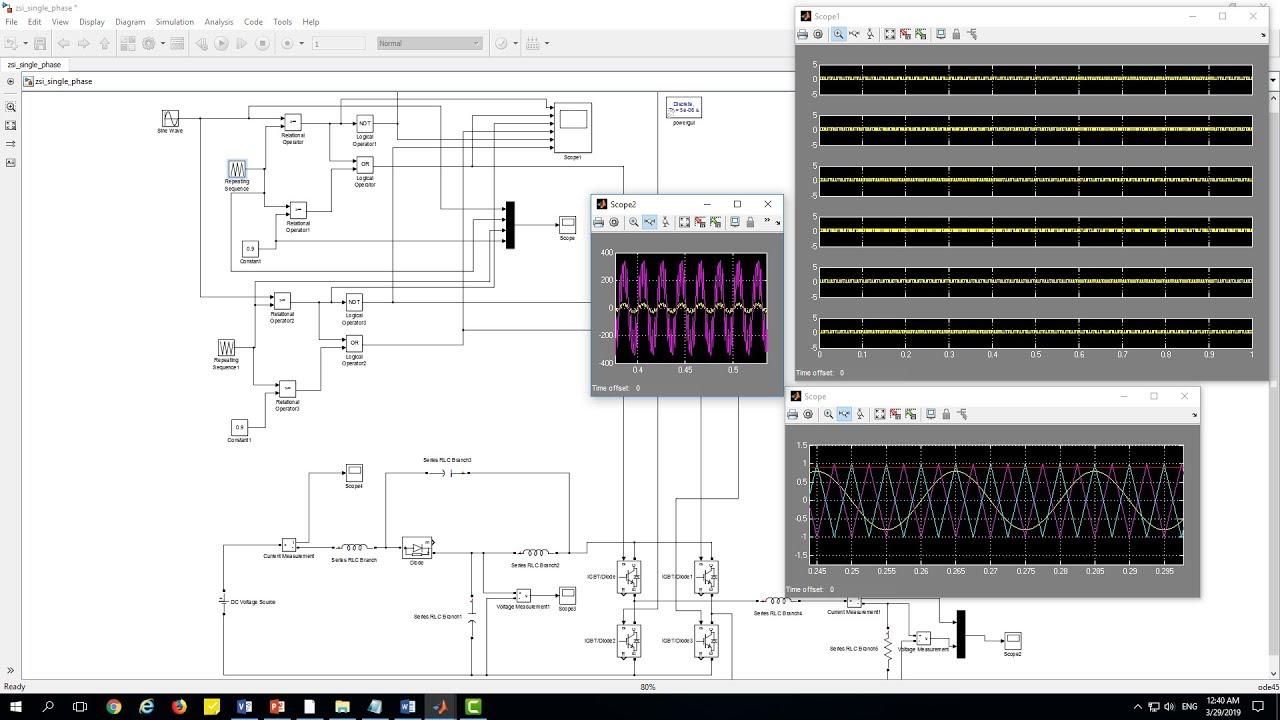 hight resolution of single phase quasi z source zsi impedance source inverter simulation matlab simulink model