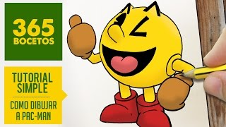 COMO DIBUJAR A PAC-MAN KAWAII PASO A PASO - Dibujos kawaii faciles - How to draw Pac-Man