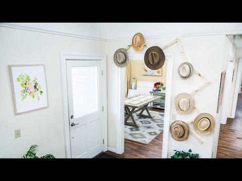 DIY Hat Rack- Home & Family