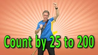 Skip Counting by 25 to 200 | Count By 25 | Counting Song | Skip Counting Song | Jack Hartmann