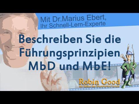 Beschreiben Sie Die Führungsprinzipien MbD Und MbE!