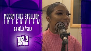 Megan Thee Stallion talks where she got her name, other female rappers, still being in school + more