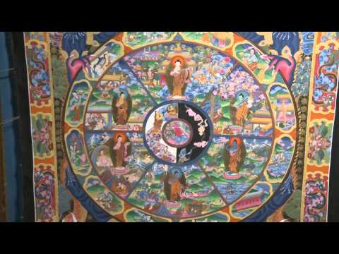 THANGKA PAINTING And WHEEL OF LIFE