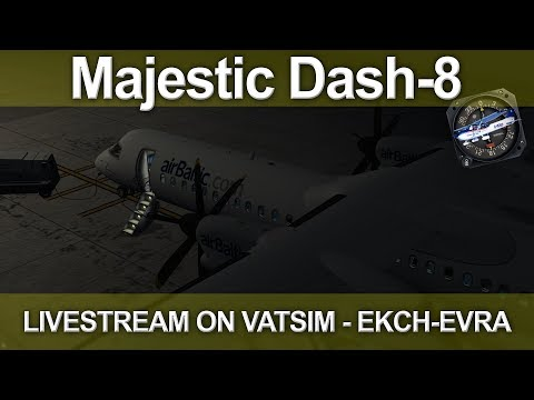 P3D v4.1 Majestic Dash-8 VATSIM Air Baltic Copenhagen to Riga