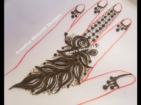 Simple Gulf Style Leaves Henna Mehndi Design Tutorial Youtube