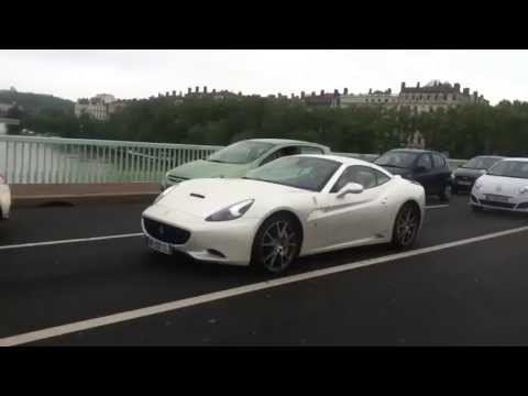 2013 Ferrari California F1 acceleration in Lyon.