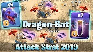DragonBat Attack Strategy 2019! TH12 Best Dragon 3star War Attack | Clash Of Clans