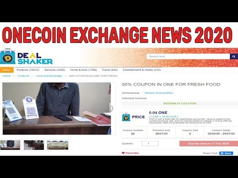 Onecoin Exchange News February 2020 | Exchange Your OneCoin With Food In India
