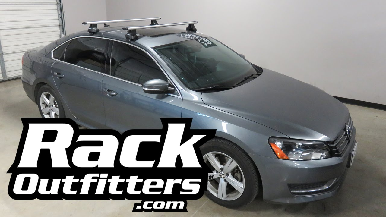 Volkswagen Passat Sedan with Thule AeroBlade Roof Rack