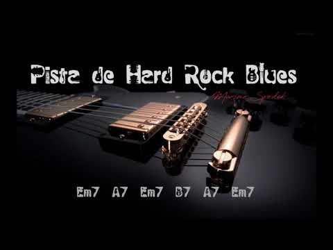 PISTA BASE DE HARD ROCK BLUES Em ESTILO LED ZEPPELIN