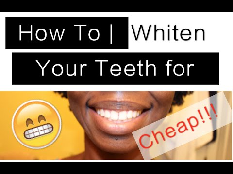 Ho To   Whiten Your Teeth for Cheap w/ Plus White 5 Minute Whitening System