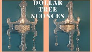 EASY WALL SCONCES   DOLLAR TREE GLAM EDITION