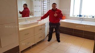 видео мебель для ванной на заказ