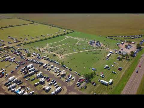 Carhenge - Alliance, NE - Solar Eclipse 2017 crowds