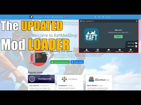 The New RAFT Mod Loader And Website! - Raft
