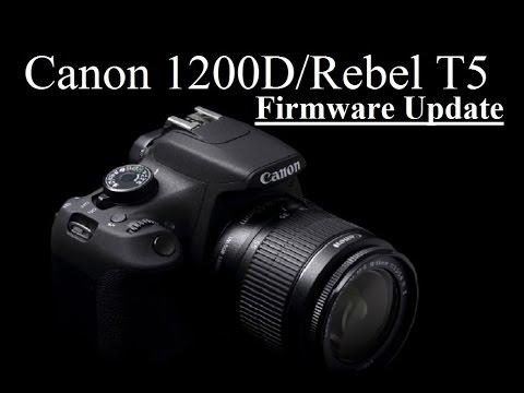 Tutorial Update Canon 1200d Rebel T5 Dslr Camera Firmware