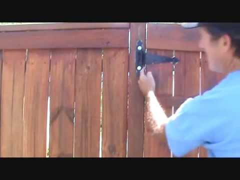 Gate Rubbing On Fence Post