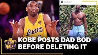 Kobe Bryant Posts Dad Bod Photo Before Deleting It #MambaThick