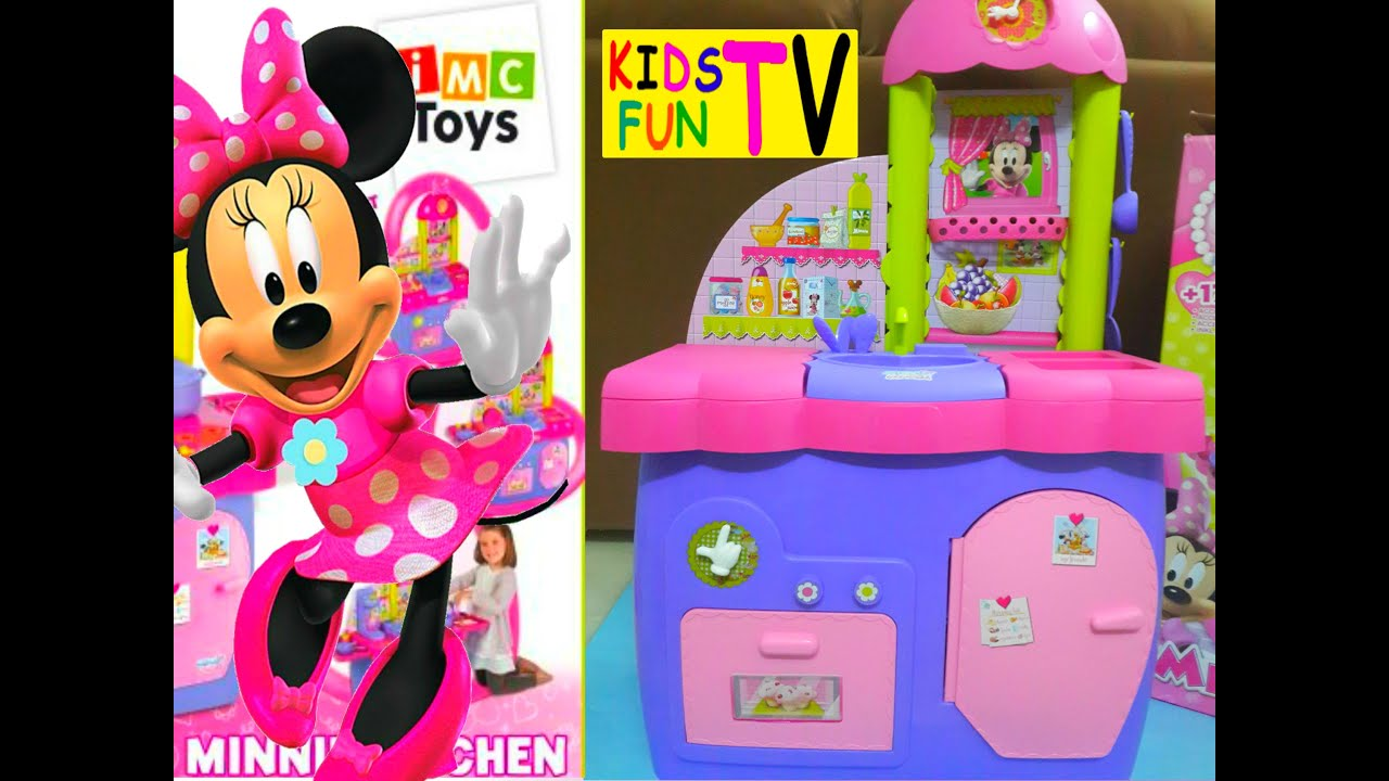 minnie mouse clubhouse kitchen playset toy review - youtube